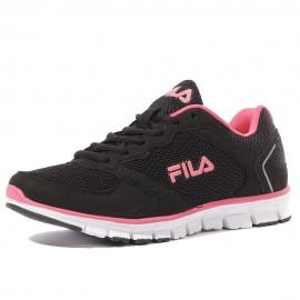 Comet Run Femme Chaussures Running Noir Rose Fila