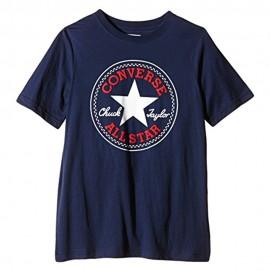Chuck Patch Garçon Tee-Shirt Marine Converse