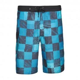 Mn Check Homme Short de Bain Bleu Vans