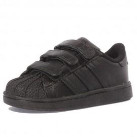 Superstar Bébé Garçon Fille Chaussures Noir Adidas