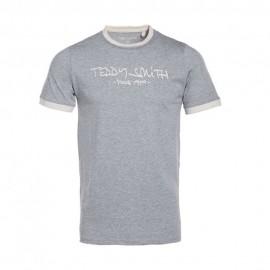 Ticlass Homme Tee-Shirt Gris Teddy Smith