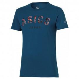 Camou Homme Tee-Shirt Bleu Asics