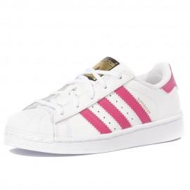 Superstar Bébé Fille Chaussures Blanc Adidas