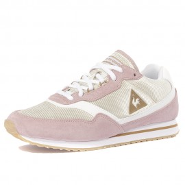Louise Suede Nylon Femme Chaussures Rose Le Coq Sportif