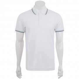 L73 Homme Polo Blanc Lotto
