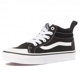 Uy Racer Mid Garçon Fille Chaussures Noir Vans