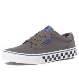 Yt Winston Check Fox Garçon Chaussures Gris Vans