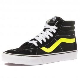 Ua Sk8-Hi Reissue Neon Leather Garçon Homme Chaussures Noir Vans