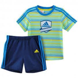 Ijb Set Bébé Garçon Ensemble Bleu Adidas