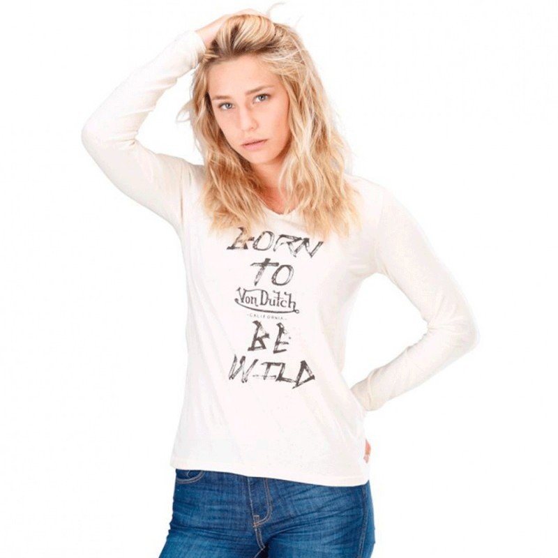 Dutch shirt Ecru Femme Von Tee Sienna TclJFK1
