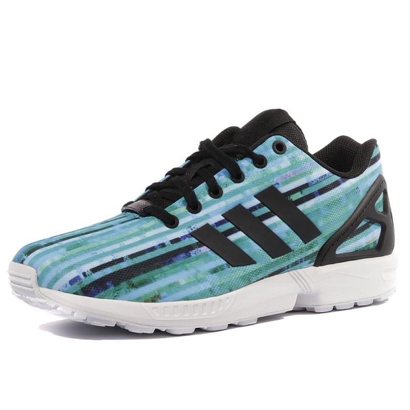 ZX Flux Homme Chaussures Bleu Adidas