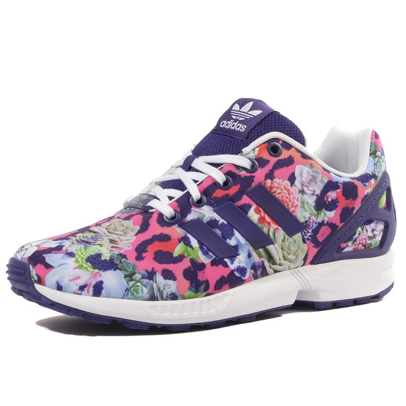 ZX Flux Femme Fille Chaussures Violet Adidas