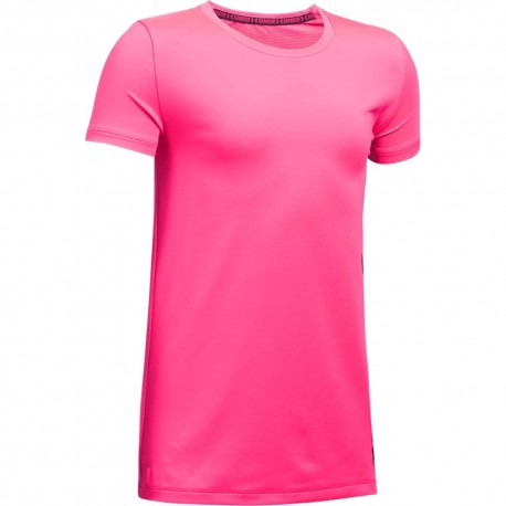 Short Sleeve Fille Tee-Shirt Entrainement Rose Under Armour