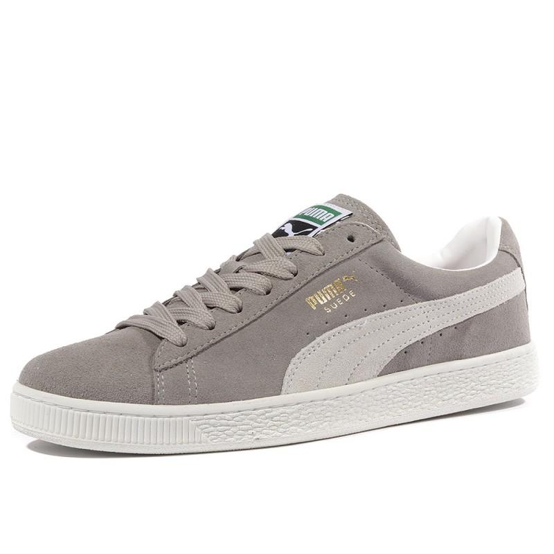 Homme Puma Classic Chaussures Suède Gris fTBY5