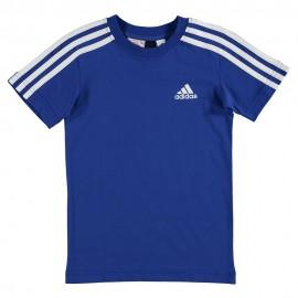 Yb 3S Garçon Tee-Shirt Bleu Adidas