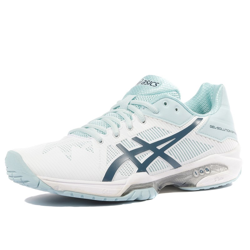 84520933bbe Gel Solution Speed 3 Femme Chaussures Tennis Blanc Asics
