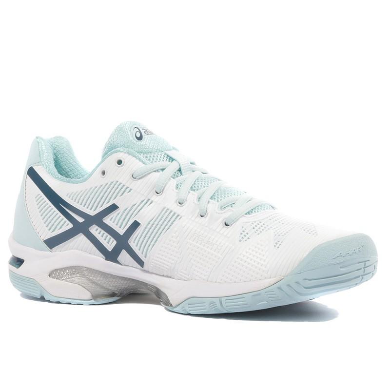 Gel Solution Speed 3 Femme Chaussures Tennis Blanc Asics