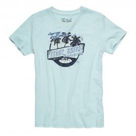 Tulituli Mc Garçon Tee-Shirt Bleu Teddy Smith