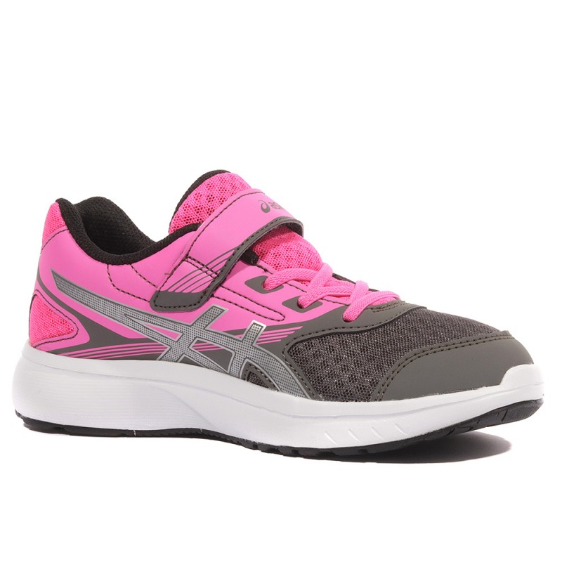 Running Asics Ps Chaussures Stromer Gris Fille Rose N8vnmw0O