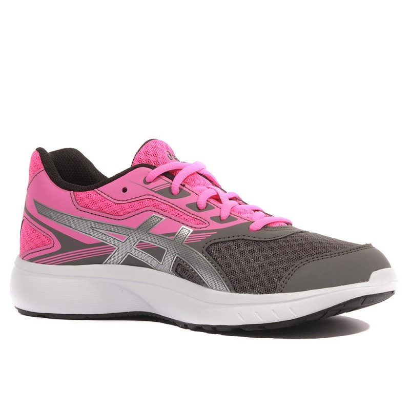 Stormer GS Fille Chaussures Running Gris Rose Asics
