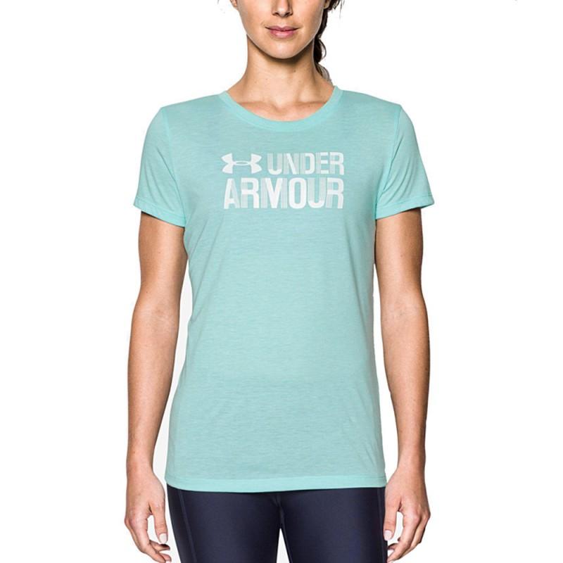 super mignon 26e3e 20ffc Threadborne Ssc Femme Tee-Shirt Running Bleu Under Armour