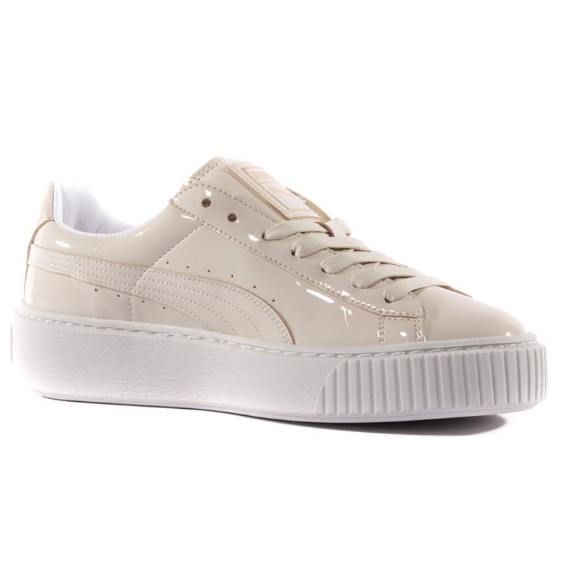 Chaussures Beige Femme Puma Patent Platform XZTkOlwuPi