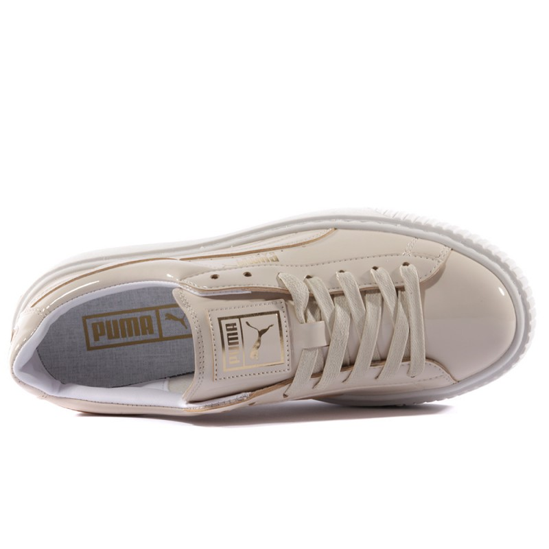 Beige Chaussures Patent Femme Puma Platform 7gyfvYb6