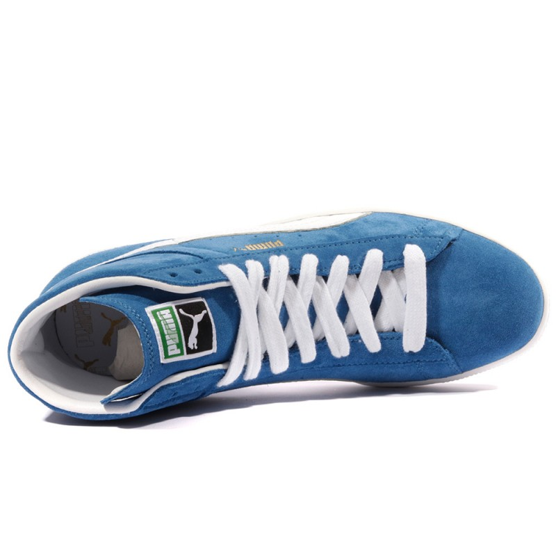 Suede Mid Classic Homme Chaussures Bleu Puma