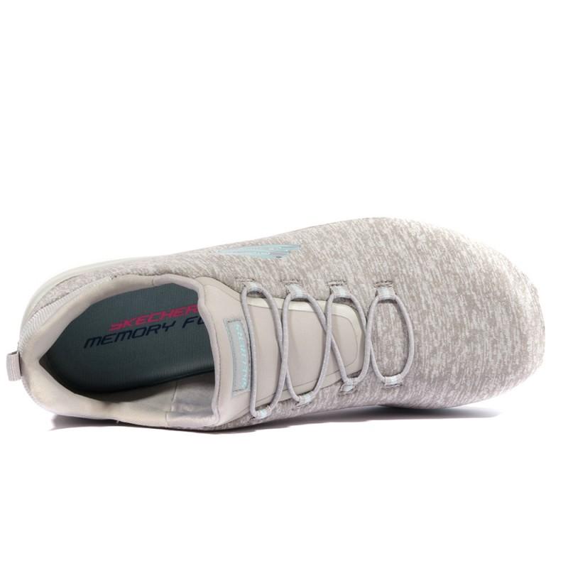 Break Through Skechers Dynamight Chaussures Gris Femme nOkXP80w