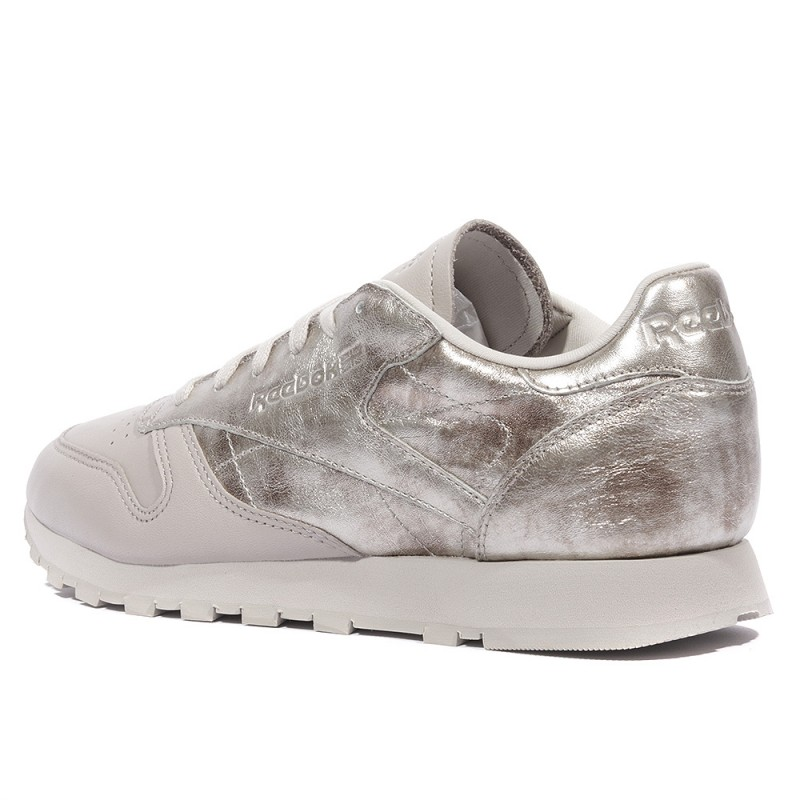 Reebok Femme Gris Chaussures Leather Classic nIpUqgzxW1