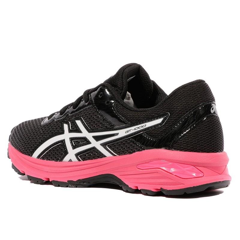 chaussures de sport 4be3f c0daa GT-1000 6 GS Fille Chaussure Running Noir Rose Asics