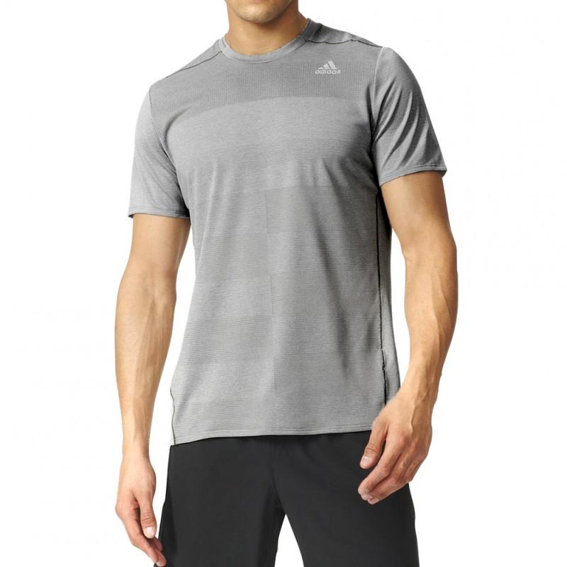 Supernova Homme Tee Shirt Running Gris Adidas