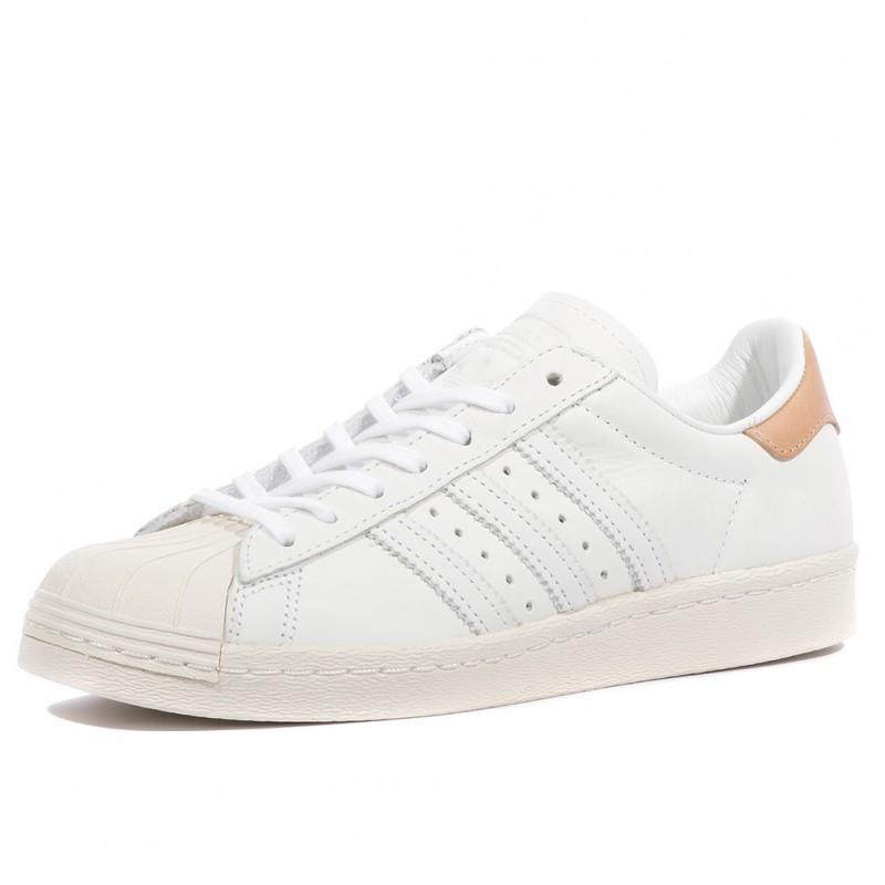 Superstar Femme 80s Adidas Chaussures Blanc N8OnwX0Pk