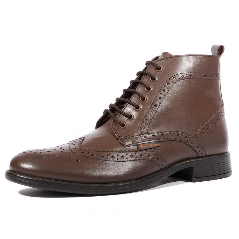 Marron Sherman Shinji Ben Chaussures Homme Leather bg76vfYy