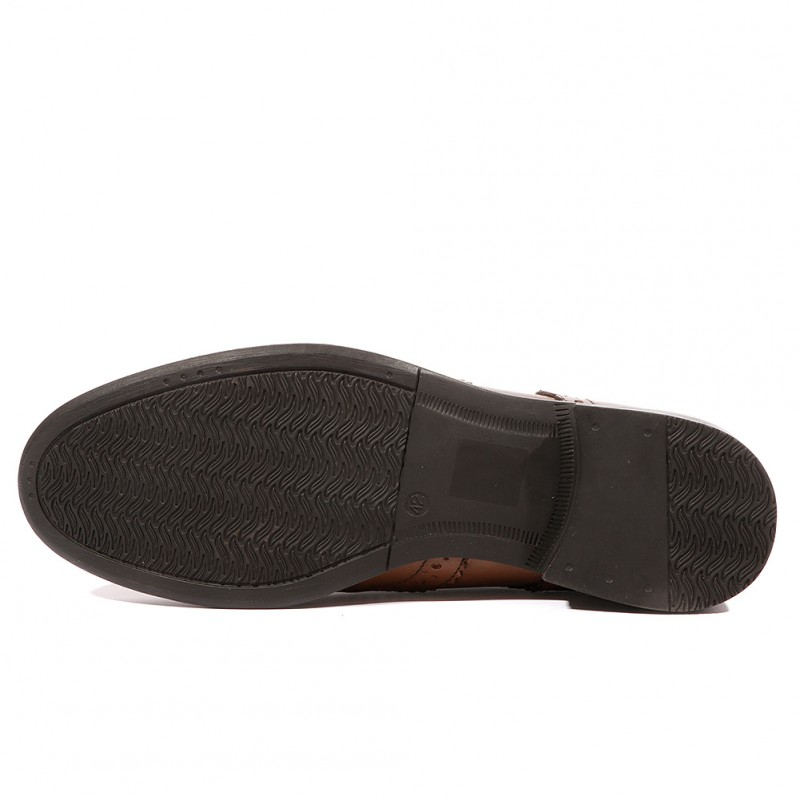 Simpson Homme Chaussures Leather Sherman Marron Ben E9WHD2IY