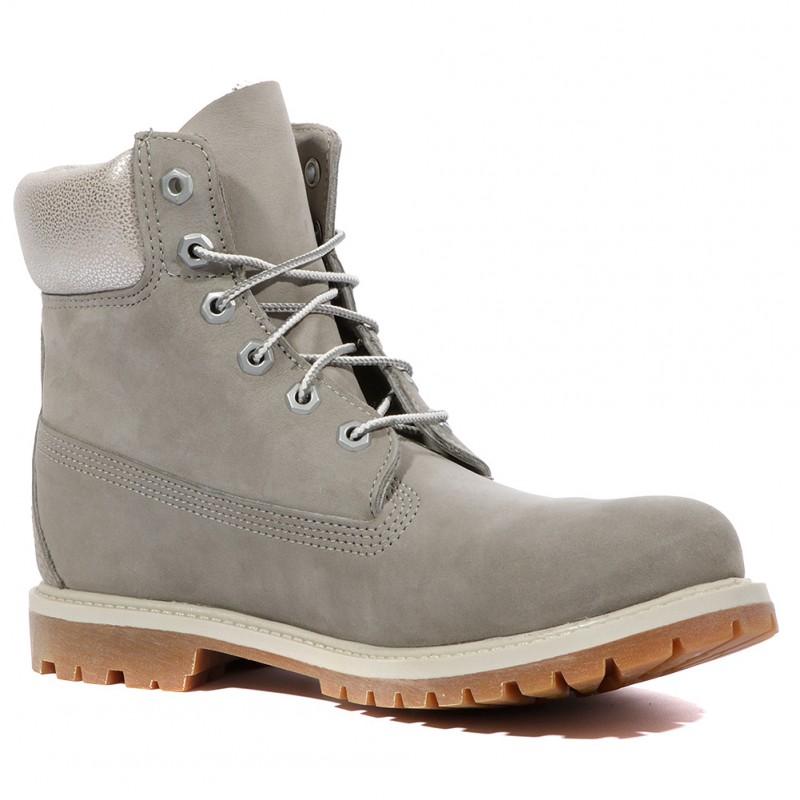 6 Boots Femme Timberland In Gris Premium c5LS4q3jAR