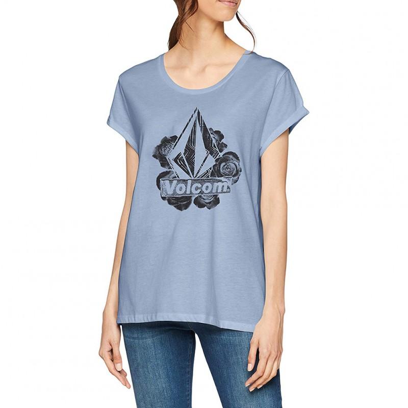 Radical Volcom Daze Bleu Tee Femme shirt eYWDH9I2Eb