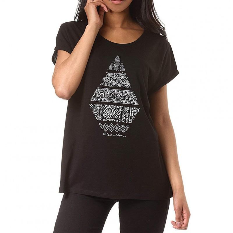 635b5644e11 Stone Daze Femme Tee-shirt Noir Volcom