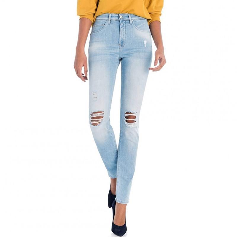 Push Femme Taille Salsa Haute In Jean Bleu PkZiXu