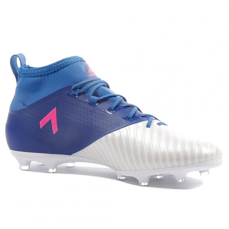 Ace 17.2 Primemesh FG Homme Chaussures Football Blanc Bleu Adidas