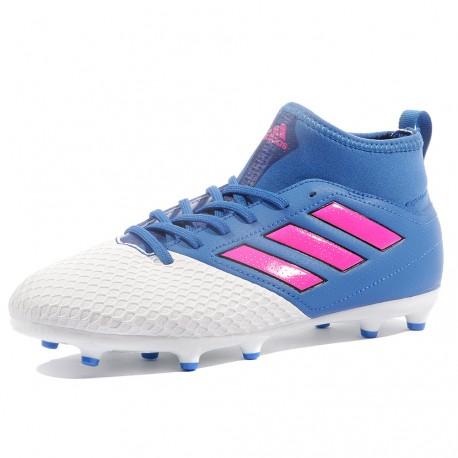 FG 3 Garçon Blanc Adidas Ace 17 Bleu Chaussures Football