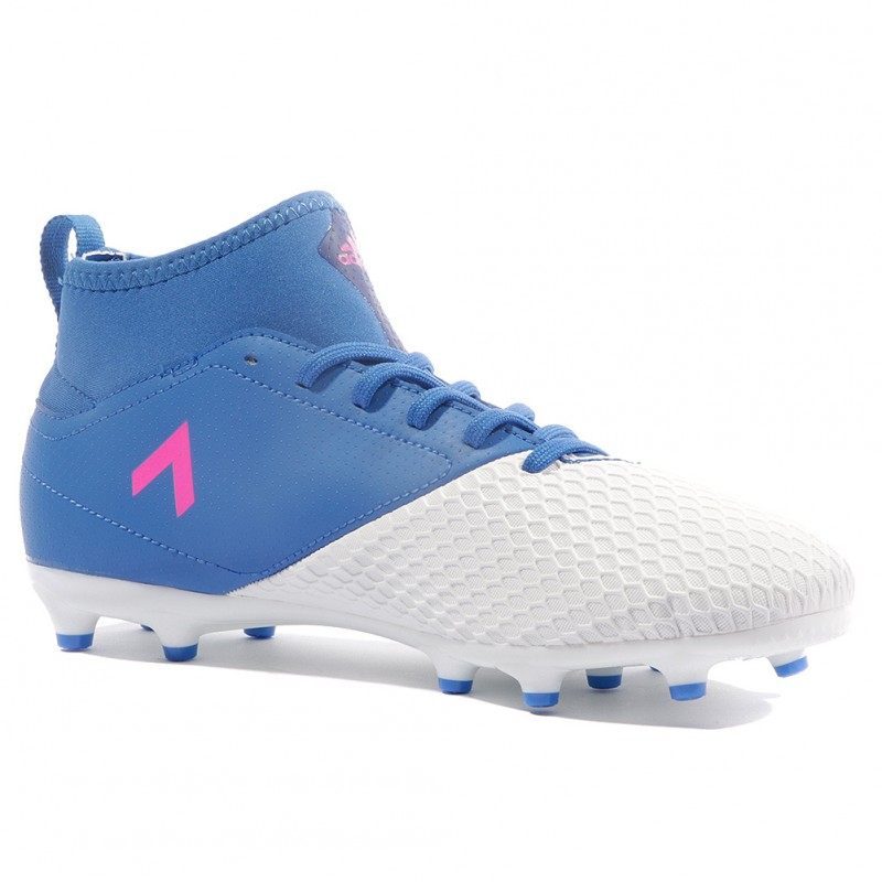 Ace 3 Adidas Garçon Chaussures 17 Bleu Blanc Fg Football 7ybf6Yg