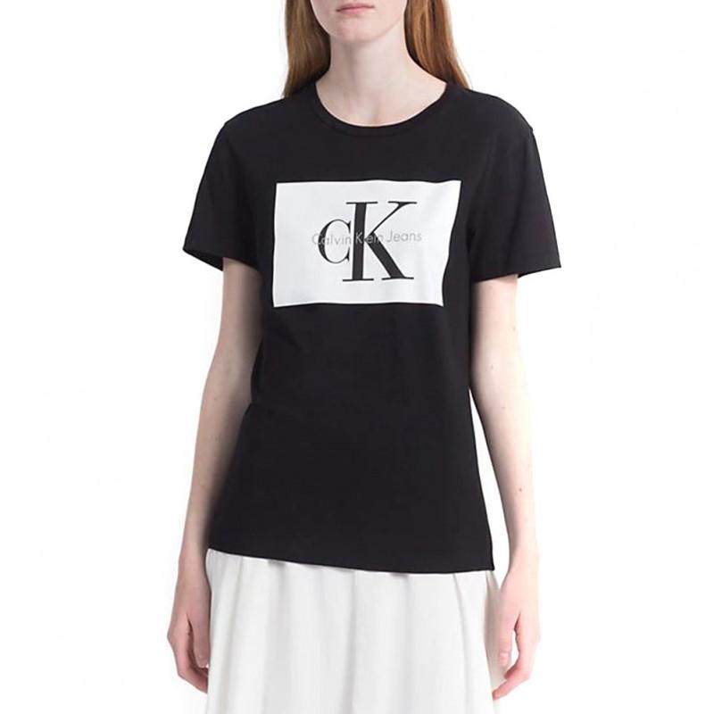Klein Tanya Calvin Femme Tee Noir Shirt Jeans jMpUVGLqSz