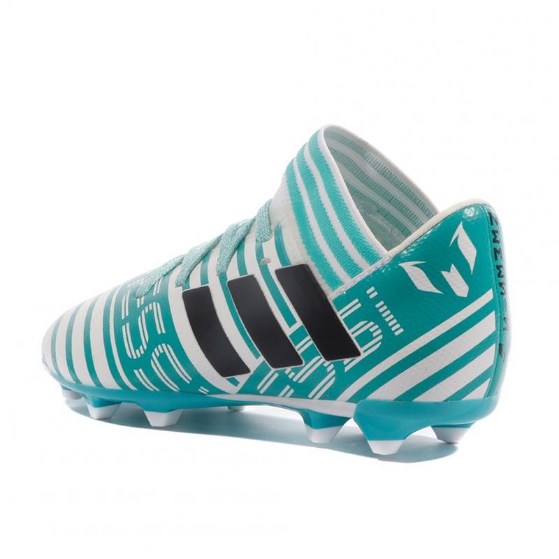 Nemeziz Messi 17.3 Garçon Chaussures Football Blanc Bleu Adidas