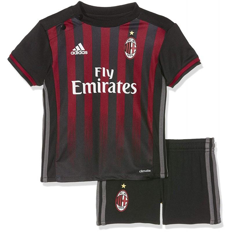 best service 9e31a 6f3b1 Milan Ac Bébé Garçon Minikit Football Noir Adidas