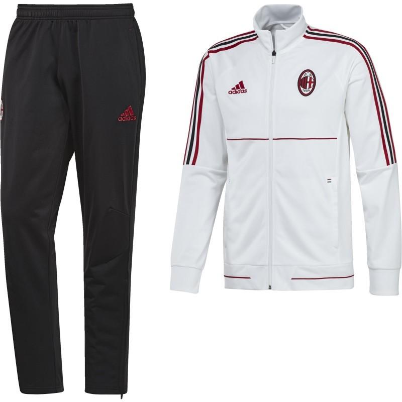 Milan AC Homme Survêtement Football Blanc Adidas