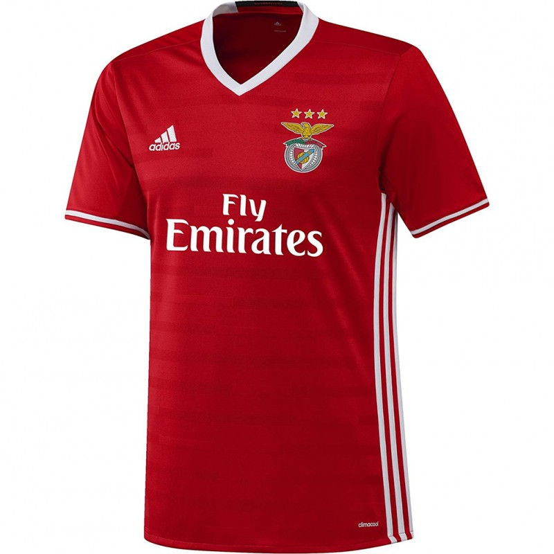 los angeles 5d0fa ca78d Benfica Lisbonne Homme Maillot Football Rouge Adidas