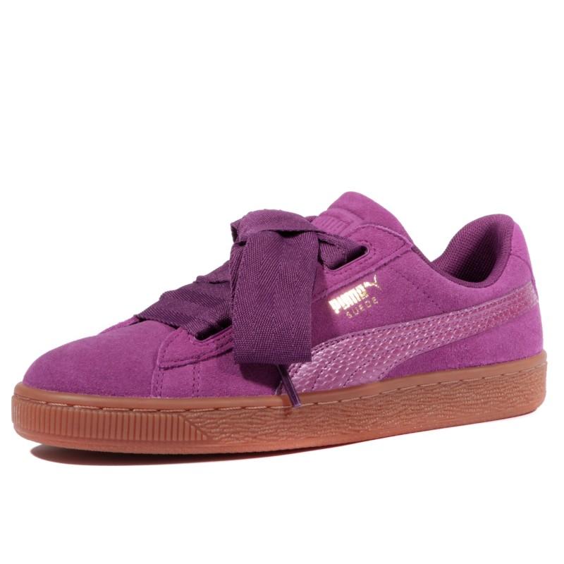 puma heart femme violet