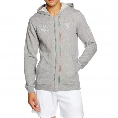 FFR AM HOOD JKT GRI Sweat Zippée XV de France Rugby Homme Adidas