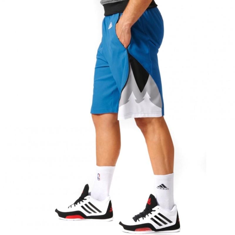 Timberwolves Swingman Homme Short Basketball Bleu Adidas